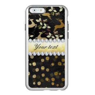 Gold Deer Confetti Diamonds Chalkboard Incipio Feather® Shine iPhone 6 Case