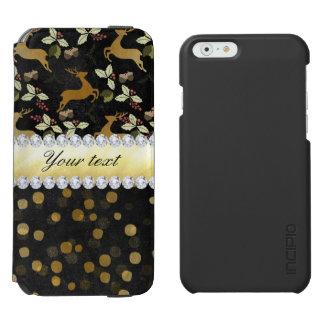 Gold Deer Confetti Diamonds Chalkboard Incipio Watson™ iPhone 6 Wallet Case