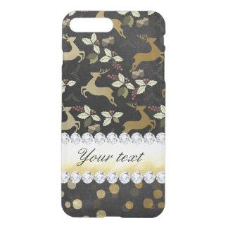 Gold Deer Confetti Diamonds Chalkboard iPhone 8 Plus/7 Plus Case