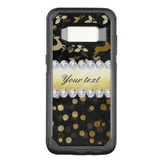 Gold Deer Confetti Diamonds Chalkboard OtterBox Commuter Samsung Galaxy S8 Case