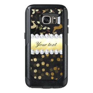 Gold Deer Confetti Diamonds Chalkboard OtterBox Samsung Galaxy S7 Case