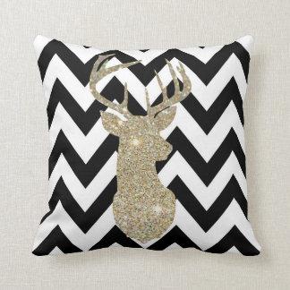 Gold Deer Head Pillow