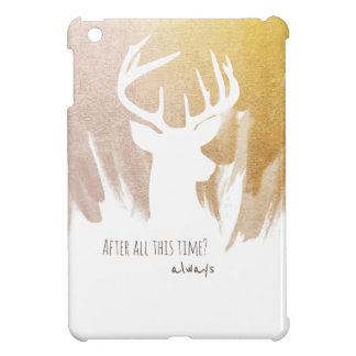 Gold Deer Patronus iPad Cases
