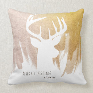 Gold Deer Patronus Pillow