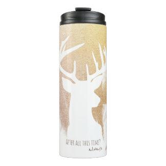Gold Deer Patronus Tumbler Thermal Tumbler