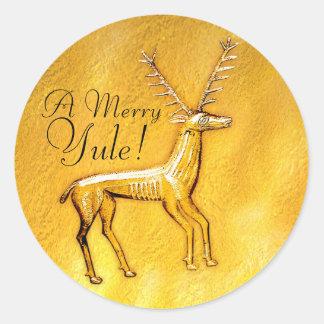 Gold Deer - Sticker