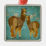 Gold Diamond Alpacas Ornament