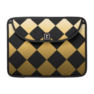 Gold Diamond Checkered Pattern Sleeve For MacBooks