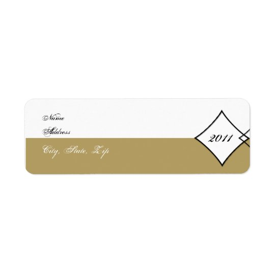 Gold Diamond Class Graduation Return Address Return Address Label