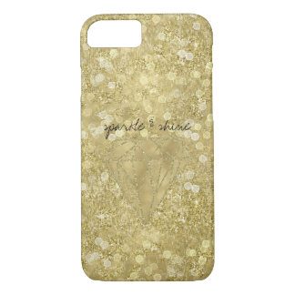 Gold Diamond Glittery Sparkle and Shine iPhone 7 Case