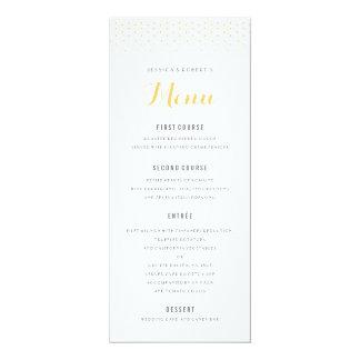 Gold Diamond on White Wedding Menu Template