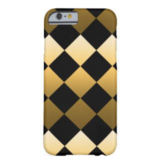 Gold Diamond Pattern Barely There iPhone 6 Case