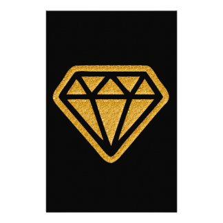 Gold Diamond Stationery Design