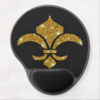 Gold Diamonds Fleur De Lis Gel Mouse Pad
