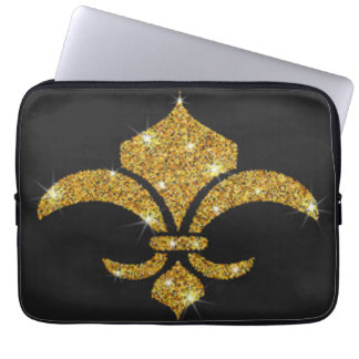 Gold Diamonds Fleur De Lis Laptop Sleeve