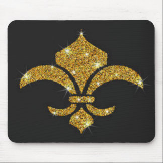 Gold Diamonds Fleur De Lis Mouse Pad