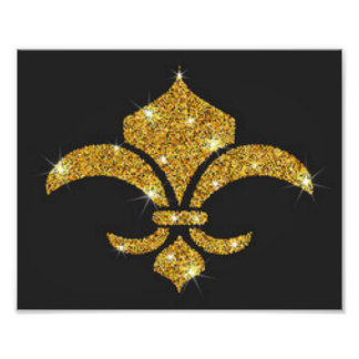 Gold Diamonds Fleur De Lis Photo Print