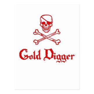 Gold Digger Postcard
