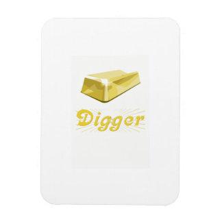 Gold Digger Rectangular Magnet
