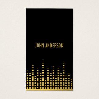 Gold DJ Business Card