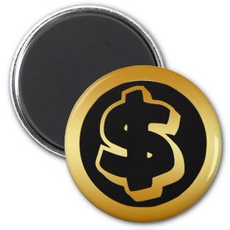 GOLD DOLLAR SIGN MAGNET