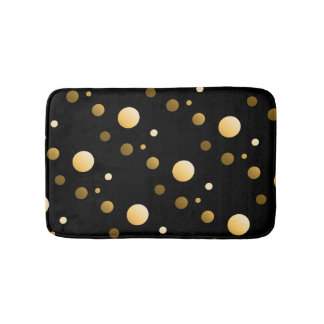 Gold Dot Pattern Bath Mat