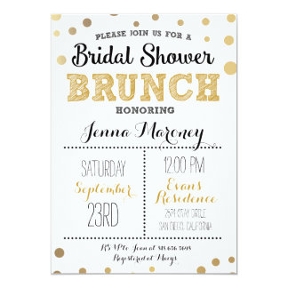 Gold Dots Bridal Shower Invitation