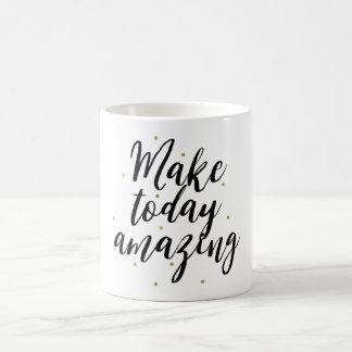 Gold Dots Confetti Make Today Amazing Coffee Mug