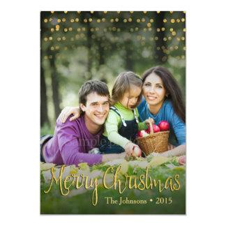 Gold Dots Elegant Christmas Card Design (2 sides)