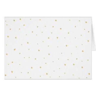 Gold Dots Note Card - White