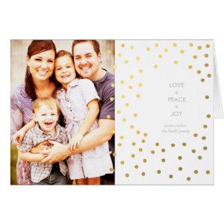 Gold Dots Photo Christmas Card