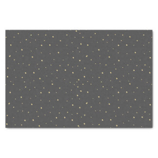 Gold Dots Tissue Paper Black