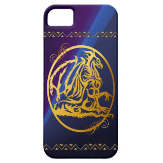 Gold Dragon Circled  iPhone 5 Cases