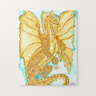 Gold Dragon Jigsaw Puzzle