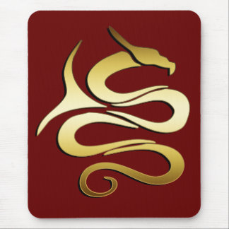 GOLD DRAGON MOUSE PAD