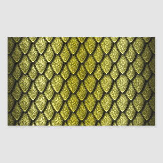 Gold Dragon Scales Rectangular Sticker