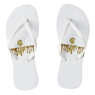 Gold dripping rose White Adult, Slim Straps Thongs