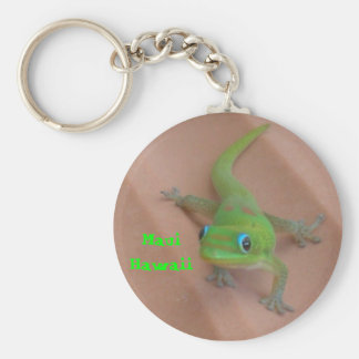 Gold Dust Day Gecko Basic Round Button Key Ring