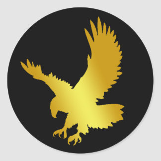 GOLD EAGLE CLASSIC ROUND STICKER