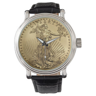 Gold Eagle coin Wrist Watches