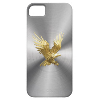 Gold Eagle Steel iron Case For The iPhone 5
