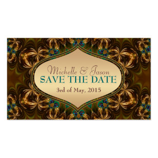 Gold Earth Bohemian Save the Date Mini Cards Business Card Templates