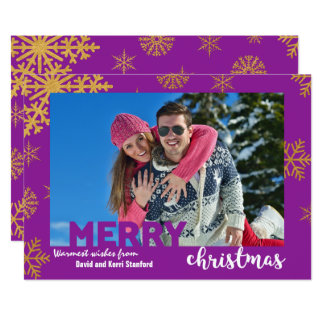 Gold Effects Snowflakes Background Christmas Card 13 Cm X 18 Cm Invitation Card