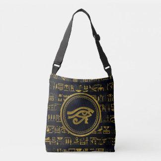 Gold Egyptian Eye of Horus - Wadjet Crossbody Bag