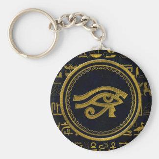 Gold Egyptian Eye of Horus - Wadjet Key Ring