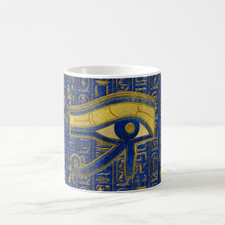 Gold Egyptian Eye of Horus - Wadjet Lapis Lazuli Coffee Mug