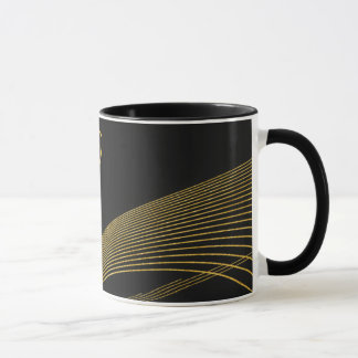 Gold Elegant - LEMAT WORKS- black 325 ml Mug