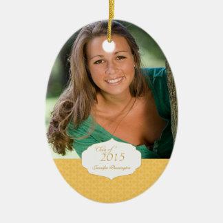 Gold elegant pattern graduation photo ornament