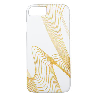 Gold Elegant-Pure White -iPhone 7, Barely There iPhone 7 Case