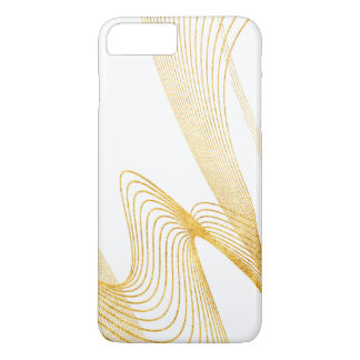 Gold Elegant-Pure White- iPhone 7 Plus, Barely iPhone 7 Plus Case